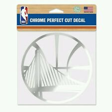 GOLDEN STATE WARRIORS PERFECT CUT CHROME DECAL 6x6 FREE SHIPPING! STEPHEN CURRY