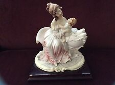 "Victorian Italian Capodimonte Porcelain Statue ""Mother And Child"" B. Merli"