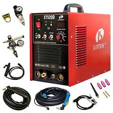 Lotos CT520D Plasma Cutter Tig Stick Welder 3 in 1 Combo Welding Machine ... New
