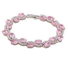 Glittering Topaz 18k white gold filled fashion jewelry Lady Pinky Bracelet TB299