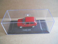 YUGO 45A Legendary Cars 1:43 Die Cast in Box in Plexiglass [MV10]