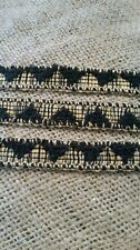 Aztec wollen black and gold trimming embellishment