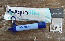 AquaStiq Water 1000LFilter Straw for hiking, camping  & survival use + free tool