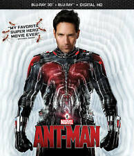 Ant-Man (Blu-ray Disc, 2015, 2-Disc Set, 3D Includes Digital Copy) GREAT SHAPE