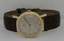Vintage Omega Hand-Winding 14K Yellow Gold 35mm Silver Dial 35mm Watch