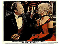 DR ZHIVAGO 1965 Rod Steiger Julie Christie ALCOHOL SCENE  original UK lobby card