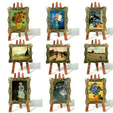 48 Impressionist Painting in Gilt Frame Greeting Card on 3D Easel