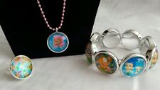 Bubble Guppies Toddler Image Necklace, Bracelet & Ring Jewelry in Gift Box