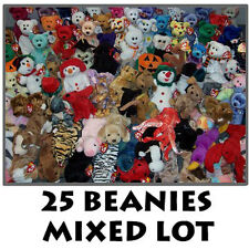 TY Beanie Babies - Mixed Lot of 25 Beanies (All Different) - Wholesale Bulk Toys
