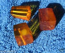 Natural Baltic amber 10 gr Cognac pyramid octagon carved beads craft  琥珀