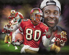 JERRY RICE THE GREATEST San Francisco 49ers Classic NFL Art Premium POSTER Print