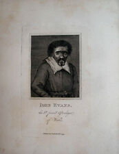JOHN EVANS WELSH ASTROLOGER WIZARD WALES ASTROLOGY 1794 PORTRAIT  ENGRAVING