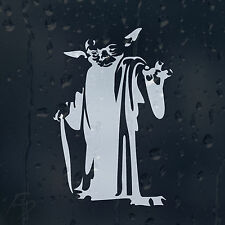 Funny Star Wars Jedi Master Yoda Car Decal Vinyl Sticker For Bumper Window Panel