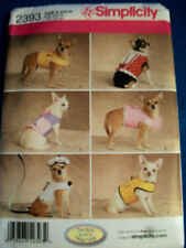 SEWING PATTERN S2393 DOG PET CLOTHES COATS JACKET BERET LEASH XXS - MED. UNCUT