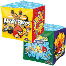 ANGRY BIRDS CUBEZ FOIL MYLAR BALLOON ~ Birthday Party Supplies Decoration Helium
