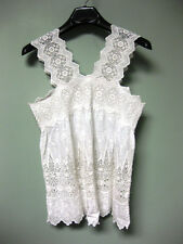 Ulla Johnson NWT Embroidered Cotton Voile Inset Crocheted Lace Birdie Top 10