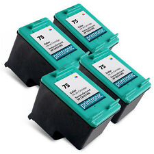 4 Pack HP 75 Ink Cartridge Color - OfficeJet J6415 J6424 J6450 J6480 J6488