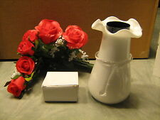 Fiber Optic Red Roses w/vase, NIB