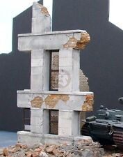 """Dioramas Plus 1/35 """"Small Ruins"""" Ruined German Building Corner Section WWII DP4"""