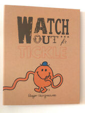 A4 RING BINDER Mr Men WATCH OUT FOR TICKLE FOLDER FILE Kraft Brown Orange GIFT