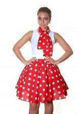 Ladies Girls Women 50's Style Polka Dot RockNRoll Full Circular Skirt&Scarf