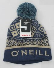 New O'Neill Womens Cabin Fever Pom Beanie Blue