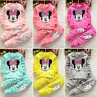 Baby Girls Minnie Mouse Sweatshirt Top Jumper + Pants 2Pcs Outfit Set Sportswear