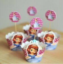 Sofia the First , Cupcake Cup Cake Decorating,Toppers Wrappers PARTY DECORATION