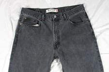 Levi 550 Relaxed Fit Faded Black Color Denim Jeans Tag 38x32 Measure 36x31