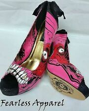 Iron Fist Gold Digger Zombie Stomper Pink Gold Womens Heels Platform Shoes 10