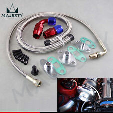 For Toyota Supra 1JZGTE 2JZGTE 1JZ/2JZ Single Turbo Oil Feed Line Kit Flange Kit