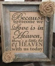 """8""""x10"""" Burlap Sign In Loving Memory Wedding Sign And Candle Holder Combo"""