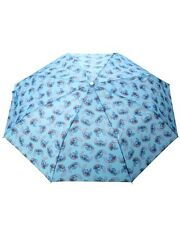 Disney Lilo & Stitch All Over Print Blue Compact Umbrella Gift New With Tags!
