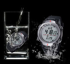 Wasserdichten Outdoor Sport Herren Digital LED Quartz Alarm Date Armbanduhr