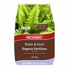 Richgro ORGANIC FERTILISER 5kg Certified, Palm & Fern Mega Booster Aust Brand