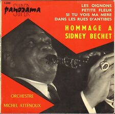 """MICHEL ATTENOUX / G. ARVANITAS """"HOMMAGE A SIDNEY BECHET"""" 60'S EP PANORAMA 1235"""