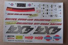 1 DECAL SHEET ONLY for 4x4 Nissan Dually Lindberg 1:20 Truck Pickup Model