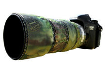 Canon 70 300mm L IS Neoprene lens protection camouflage cover: Green camo
