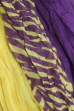 East Carolina Scarf. Triple Layer Scarf: Purple, Gold and Stripes. Go Pirates!