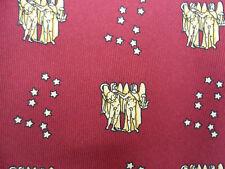 100% De Seda Borgoña Corbata Con Gemelos Diseño BNWOT Zodíaco Horóscopo Géminis
