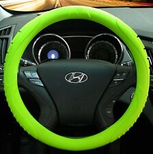 MASADA Premium Silicone Car Steering Wheel Cover (Green) - One size fits all