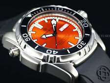 New Deep Blue 45mm Pro Aqua Automatic Sapphire Crystal 1500M Orange Dial Watch