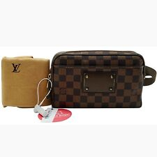 Authentic  Louis Vuitton Damier Ebene Bum Bag Brooklyn Hip Waist Bag TT281