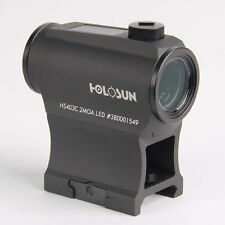Holosun HS403C Paralow Solar Power Red Dot Sight Scope 1X20, 50000hrs, T1 mount