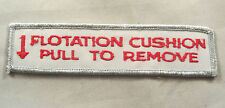 Flotation Cushion Pull To Remove Embroidered Motorcycle Patch