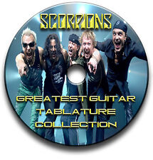 SCORPIONS HEAVY METAL ROCK GITARRE ETIKETTEN TABLATURE LIED BUCH SOFTWARE CD