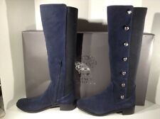VINCE CAMUTO Womens Jacilla 2 Blue Suede Knee High Boots Shoes Size 8 W H1-107
