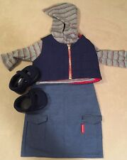 American Girl Today Urban Outfit 2000 Vest Hoodie Shoes Clothes Skirt Excellent