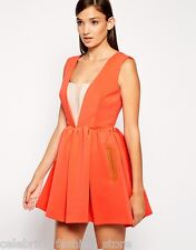 Three Floor  Casual Scuba New Flame Orange Evening Party Dress 6 34 £128 New