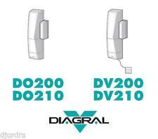 2 x Diagral DV210 TwinPass wireless door/window detector with glass break sensor